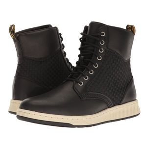 Dr. Martens Rigal Woven Black Boots